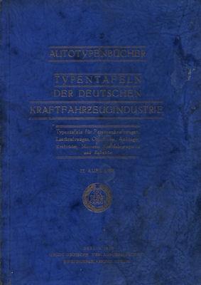 Autotypenbücher 1935 Typentafeln des Reichverbandes der Automobilindustrie 0