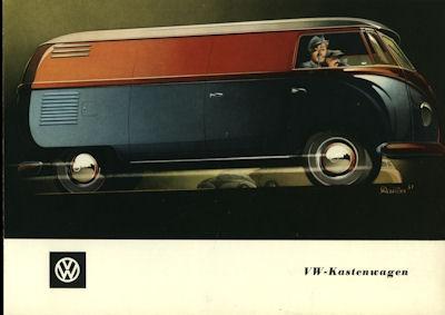 VW Kastenwagen Prospekt ca. 1951 0