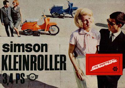 Simson Kleinroller Schwalbe 3,4 PS Prospekt 1966