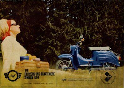Simson Kleinroller Schwalbe 3,4 PS Prospekt 1966 1