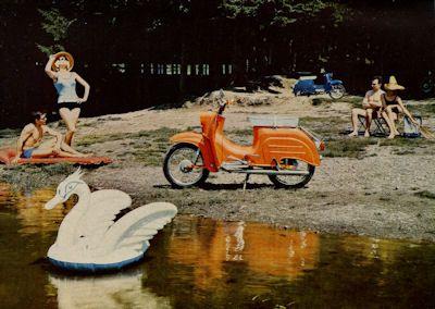 Simson Kleinroller Schwalbe 3,4 PS Prospekt 1966 2