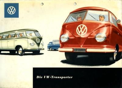 VW Transporter T 1 Mappe für Prospekte ca. 1954