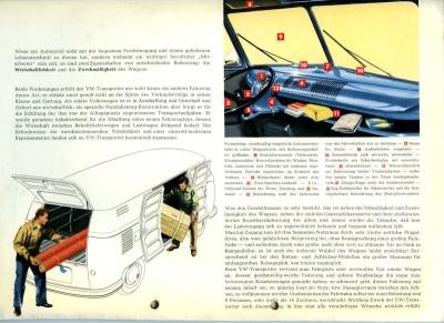 VW Transporter T 1 Mappe für Prospekte ca. 1954 1
