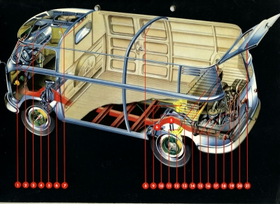 VW Transporter T 1 Mappe für Prospekte ca. 1954 2