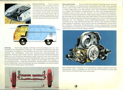 VW Transporter T 1 Mappe für Prospekte ca. 1954 3