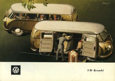 VW Kombi Prospekt ca. 1951 0