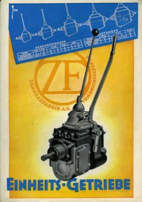 ZF Einheits-Getriebe Prospekt 7.1936 0