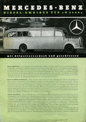 Mercedes-Benz O 3500 Prospekt 1950 0