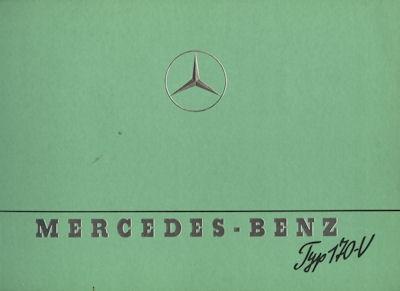 Mercedes-Benz Typ 170 V Prospekt 1941/47 Reprint 1988 0