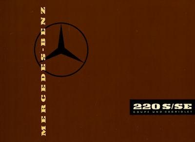 Mercedes-Benz 220 S/SE Cabriolet und Coupe Prospekt 2.1959 Reprint 0
