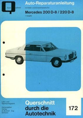 Mercedes-Benz 200D 220D Reparaturanleitung ca. 1970 0