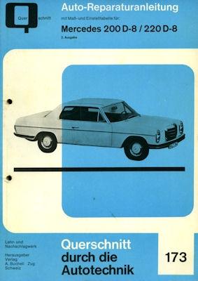 Mercedes-Benz 200D 220D Reparaturanleitung ca. 1970 1