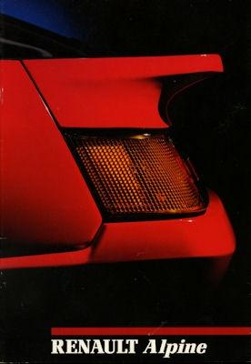 Renault Alpine A 310 V 6 Prospekt 1989 0
