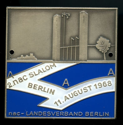 Plakette 2. NAC Slalom Berlin 11.8.1968 0