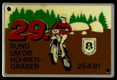 Plakette Delmenhorst ADAC 25.4.1981 0
