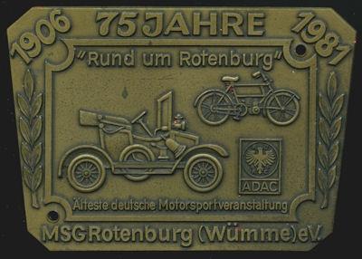 Plakette Rund um Rotenburg 1981 0