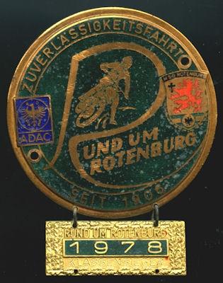 Plakette Rotenburg 1978