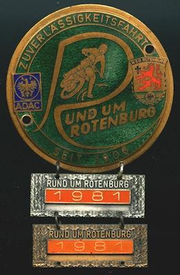 Plakette Rotenburg 1981 0