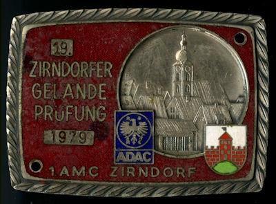 Plakette Zirndorf ADAC 1979 0