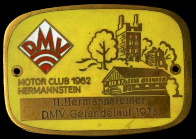 Plakette Hermannstein DMV 1978