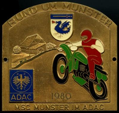 Plakette Rund um Munster 1980 0