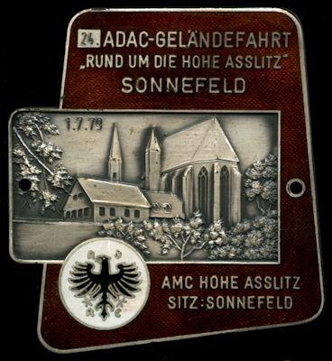 Plakette Sonnefeld 1.7.1979