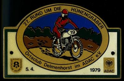 Plakette Delmenhorst ADAC 5.4.1979