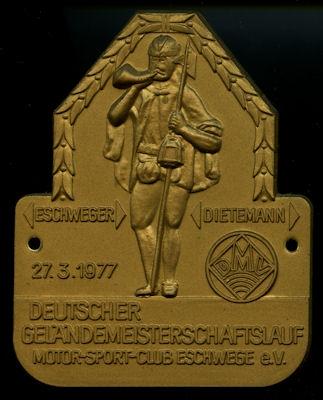 Plakette Motorsportclub Eschwege 27.3.1977
