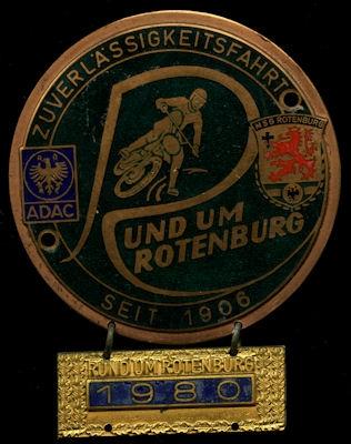 Plakette Rotenburg 1980