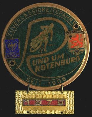 Plakette Rotenburg 1979 0