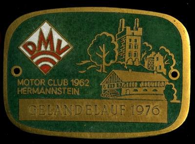 Plakette Hermannstein DMV 1976 0