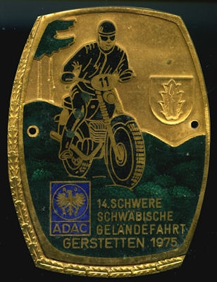 Plakette Gerstetten 1975 0