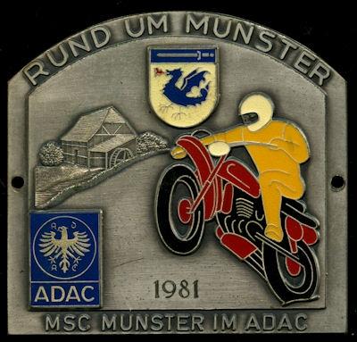 Plakette Rund um Munster 1981