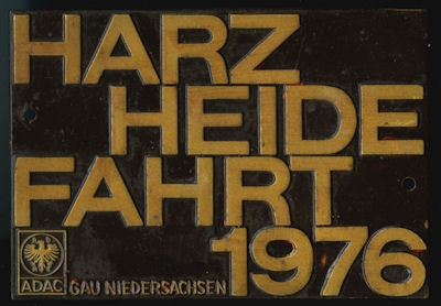 Plakette Harz-Heide Fahrt ADAC 1976 0