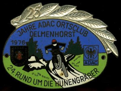 Plakette Delmenhorst ADAC 1976