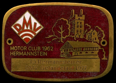 Plakette Hermannstein DMV 1977 0