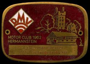 Plakette Hermannstein DMV 1977