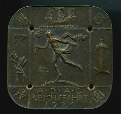 Plakette ADAC Reichsfahrt 1924