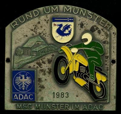 Plakette Rund um Munster 1983