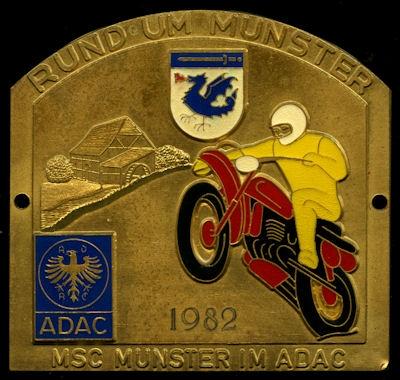 Plakette Rund um Munster 1982