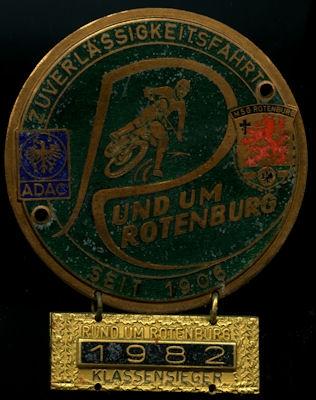 Plakette Rund um Rotenburg 1982