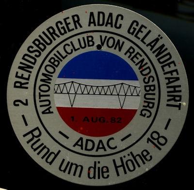 Plakette Rendsburg 1.8.1982