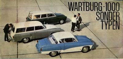 Wartburg 1000 Sondertypen Prospekt 1963