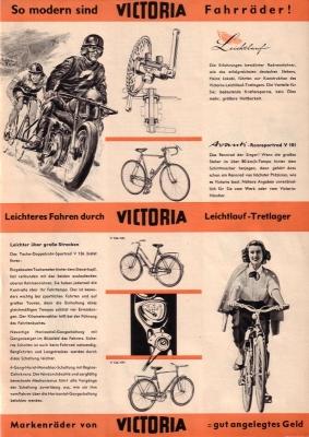 Victoria Fahrrad Programm 1956 0