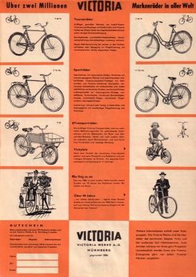 Victoria Fahrrad Programm 1956 1
