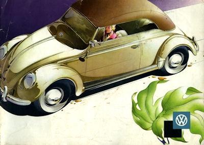 VW Käfer Cabriolet Prospekt 8.1958