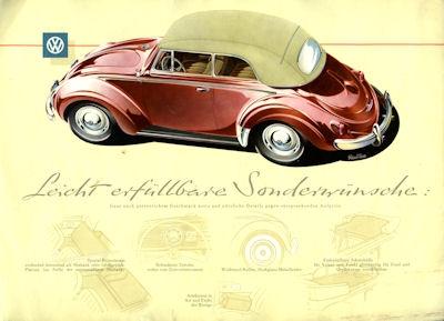 VW Käfer Cabriolet Prospekt 8.1958 1