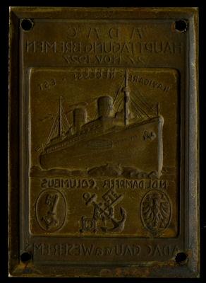 Plakette ADAC Haupttagung Bremen 27.11.1927 0