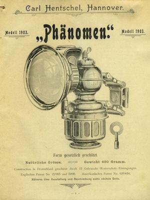 Hentschel, Carl / Hannover Fahrrad Teile Katalog 1904 1
