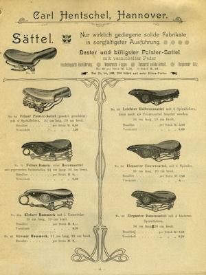 Hentschel, Carl / Hannover Fahrrad Teile Katalog 1904 2
